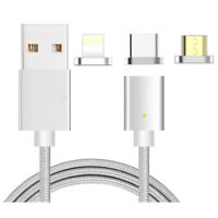 P68 3 IN 1 Nylon Lightning, Type-C, Micro USB Datenkabel iPhone Samsung Android