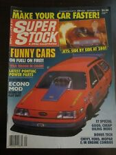 Super Stock Drag Illustrated Magazine September 1987 Funny Cars Fuel Fire (EE)