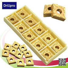Drillpro 10PCS/Box CNMG120408-MA US735 Gold Carbide Insert Blade Lathe Turning
