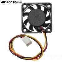 3 Pins 40x40x10mm 12V 0.1A Heat Sink Cooler CPU Cooling Fan PC Computer Desktop