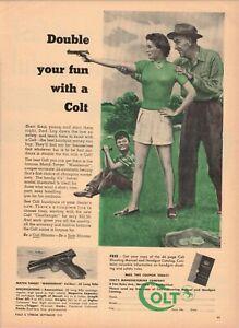 Vintage 1951 Colt  Woodsman .22 pistol Hartford CT ad