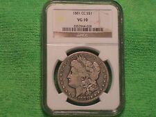1881-CC Morgan Silver Dollar! Key Date Graded by NGC!! (MG036)