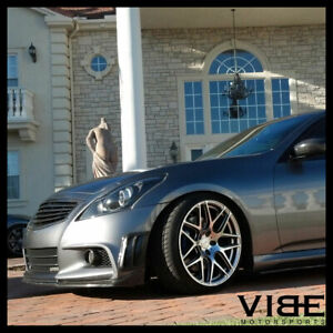 """20"""" ACE MESH-7 HYPERSILVER CONCAVE WHEELS RIMS FITS INFINITI G37 G37S COUPE"""