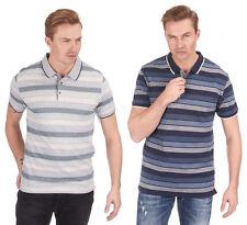 Hombres/Adultos Urban Revival Jersey Polo de rayas - gris, azul marino