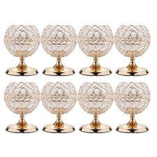 8pcs Globe Crystal Votive Tealight Candlestick for Wedding Centerpieces S