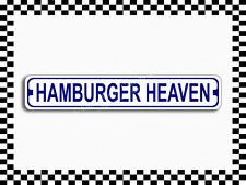 (SA-1179) Hamburger Heaven Street Sign 3×18 Metal Plaque