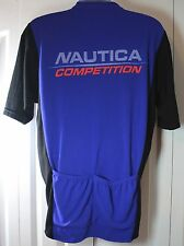 Nautica Competition Vintage Men's 2Xl Xxl Short Sleeve Cycling Bike Jersey Shirt