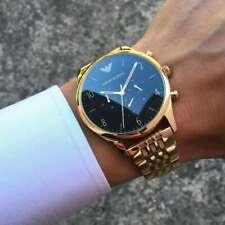 NEU Emporio Armani AR1893 Herren Uhr Armbanduhr Chronograph Edelstahl Gold OVP