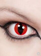lentilles oeil de chat rouge  crazy lens 1 an pour halloween zombie