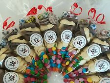 Pre filled large ALL CHOCOLATE sweet cones party bags PERSONALISED birthday
