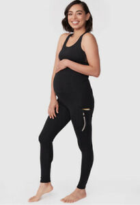 Pea In A Pod Maternity Black Size 8 Yoga Workout Leggings With Pockets RRP $99