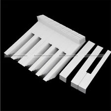 52Pcs Professional White Plastic Universal Piano Keytops with Fronts US