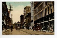 CANADA carte postale ancienne OTTAWA sparks street 2 tramway voiture