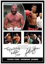290. tyson fury & anthony joshua boxing signed a4 print great gift