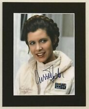 More details for carrie fisher as princess leia star wars repro signed print