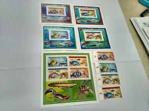 Chad 2012   fishes MICHEL No., 2523-2526 BL 407-410