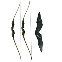 """60"""" Archery Recurve Bow Longbow 30-60lbs Takedown Right Hand Target Hunting"""