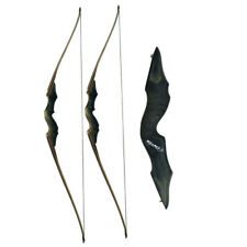 """60"""" Archery Recurve Bow Takedown 30-60lbs Longbow Target Right Left Hand Hunting"""