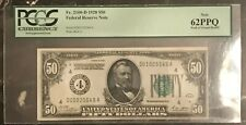 FR. 2100-D 1928 $50 FRN PCGS 62PPQ - WALL OF GREED HOARD