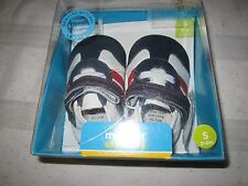 Ministar Bobux Shoes Explorers Soft Sole Blue Red White LEATHER NEW S 0-6 Mth