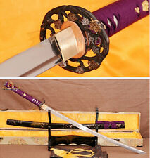 Hand Forged 1060 High Carbon Steel Japanese Katana Full Tang Blade Sharp Sword