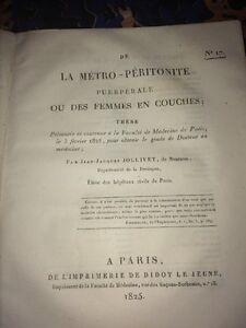 DE LA MÉTRO-PÈRITONITE PUERPÉRALE 1825.MÉDECINE.