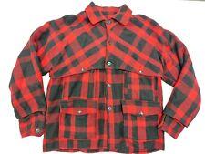New listing Vtg 30s 40s Black Bear Sportswear Mackinaw Plaid Wool Hunting Jacket Work Coat