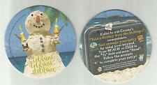 "M Lot Of 5 Corona & Lt. Beer Coasters= Modelo Of Mexico -""Snowman""3 1/2"""
