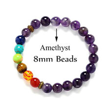 7 Chakra Healing Balance Amethyst Beaded bracelet   Reiki Prayer high quality