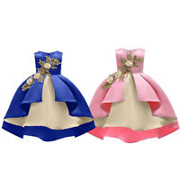 Kids Baby Flower Patch Girls Dress Party Gown Formal Wedding Bridesmaid Dresses