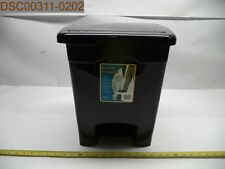 QTY = 8: Safco 4 Gallon, Black, Plastic Step-On Receptacle, 073555971026