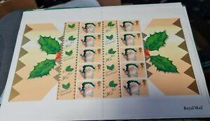 GB 2000 ''CHRISTMAS CRACKER'' SMILER SHEET Royal Mail LS3. MNH -