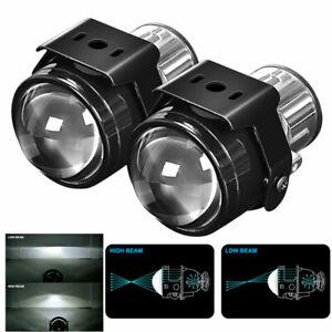 2x Universal 2.5″ Fog Light Bi-Xenon HID Projector Retrofit Lens Hi/Lo H11 Bulb