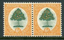 South Africa Orange Tree 6d Pair MM. 1932 Wmk Upright, Perf 15 x 14