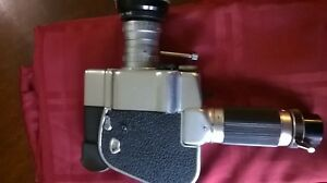 Gevaert Zoomex P. Angenieux 8mm or 16mm Movie Camera + Lots of Filters Excellent