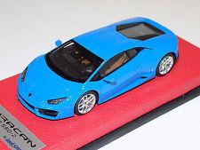 1/43 Looksmart Lamborghini Huracan LP 580-2 Blue le Mans Leather Base