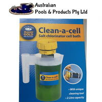 POOL CELL CLEANER Clean A Cell Jug Cleaning Container SALTWATER POOL AUSSIE GOLD