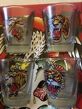 Ed Hardy Shot Glasses Barware Shot Glasses - Set of four New
