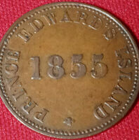 1855 LG 5's 1/2 penny Prince Edwards Island Token-Self Government and Free Trade
