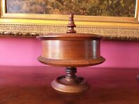 Antique Mahogany Covered Compote Bowl British Colonial Style West Indies