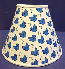 Blue Bird Happiness Bluebird Songbird Print Handmade Lampshade Lamp Shade