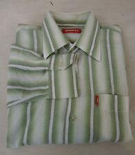 Guida sportiva SIGNUM Camicia Cotone, Verde-Bianco-A Strisce Tg. 43-44 KW