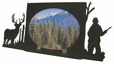 "Buck Deer Hunting Oval Picture Frame 5""x7"" H  Hunter Hunt"
