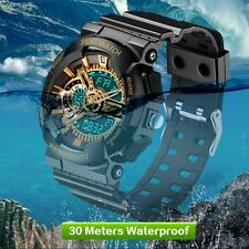 Alike Ak15115 Sports Military Date Time Rubber Men's Digital Watch Hot CC Blue