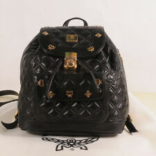 MCM Black Quilt Leather Backpack Authenticity + Dust Bag