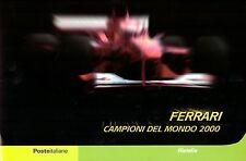 ITALIA REPUBBLICA: 2001 FOLDER FERRARI CAMPIONI DEL MONDO 2000