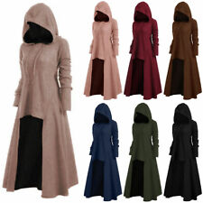 Women Winter Plain Hooded Dress Long Sleeve Casual Hoodies Pullover Oversize 5XL