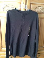 Mens shirt brown thermal long sleeve size large by Sonoma