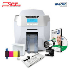 Magicard Rio Pro Complete Single Sided ID Card Printer System with Camera 365...