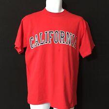 CALIFORNIA T-Shirt Red Blue Unisex Men's Women's M Medium 100% Cotton